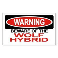 WOLF HYBRID Rectangle Decal