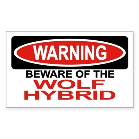 WOLF HYBRID Rectangle Sticker