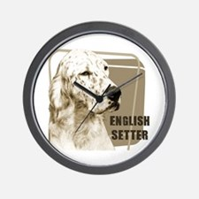 English Setter Vintage Wall Clock