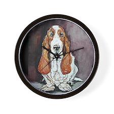 Basset Hound Portrait Wall Clock