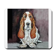 Basset Hound Portrait Mousepad