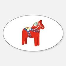 Swedish Dala Horse Decal