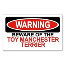 TOY MANCHESTER TERRIER Rectangle Decal