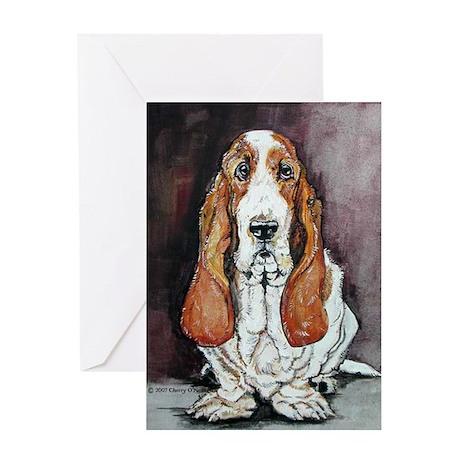 Basset Hound Portrait Greeting Card