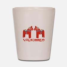 Swedish Horse Valkommen Shot Glass
