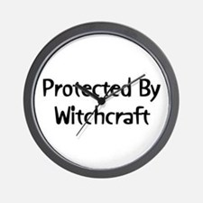 Protected By Witchcraft Wall Clock