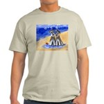 SCHNAUZER beach Design Ash Grey T-Shirt