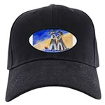 SCHNAUZER beach Design Black Cap