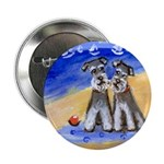 SCHNAUZER beach Design Button