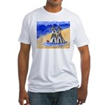 SCHNAUZER beach Design Fitted T-Shirt