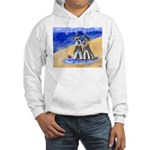 SCHNAUZER beach Design Hooded Sweatshirt