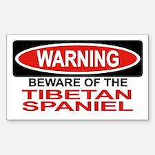 TIBETAN SPANIEL Rectangle Decal