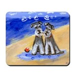 SCHNAUZER beach Design Mousepad