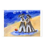 SCHNAUZER beach Design Postcards (Package of 8)