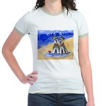 SCHNAUZER beach Design Jr. Ringer T-Shirt