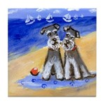 SCHNAUZER beach Design Tile Coaster