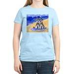 SCHNAUZER beach Design Women's Pink T-Shirt