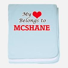 My Heart belongs to Mcshane baby blanket