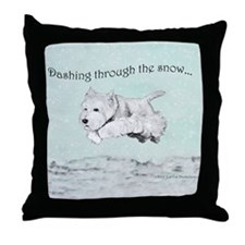 Westhighland Terrier Holiday Throw Pillow