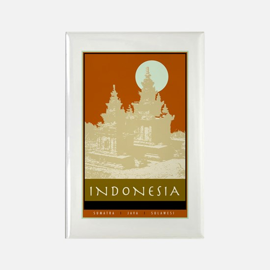 Indonesia Rectangle Magnet (10 pack)