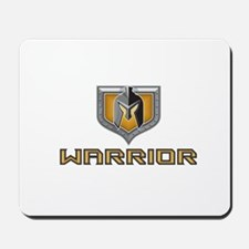 Spartan Warrior Helmet Shield Retro Mousepad