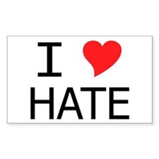 I Heart Hate Rectangle Decal