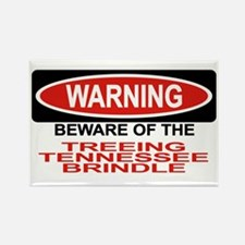 TREEING TENNESSEE BRINDLE Rectangle Magnet (10 pac