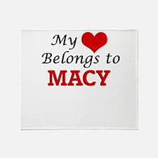 My Heart belongs to Macy Throw Blanket