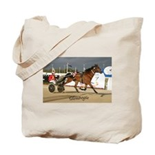 Funny Standardbred horse Tote Bag