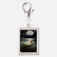 Loch Ness Collage Silver Portrait Charm