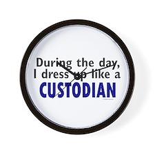 Dress Up Like A Custodian Wall Clock