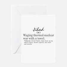 Jihad Greeting Card