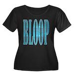 BLOOP Women's Plus Size Scoop Neck Dark T-Shirt