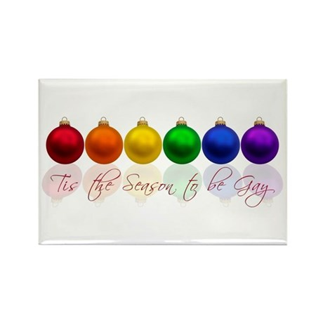 Tis the season to be gay Rectangle Magnet (100 pac