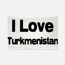 I love Turkmenistan Rectangle Magnet