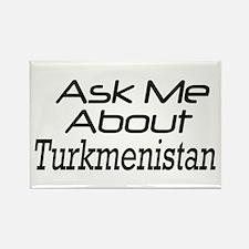 Ask me about Turkmenistan Rectangle Magnet