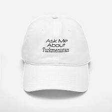 Ask me about Turkmenistan Baseball Baseball Cap