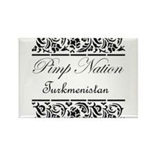 Pimp nation Turkmenistan Rectangle Magnet