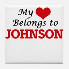 My Heart belongs to Johnson Tile Coaster