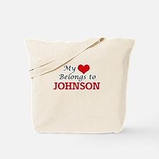 My Heart belongs to Johnson Tote Bag