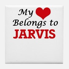 My Heart belongs to Jarvis Tile Coaster