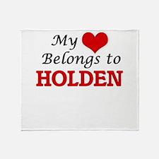 My Heart belongs to Holden Throw Blanket