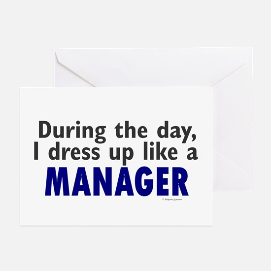 Dress Up Like A Manager Greeting Cards (Pk of 20)
