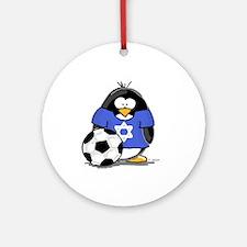 Star of David Soccer Penguin Ornament (Round)