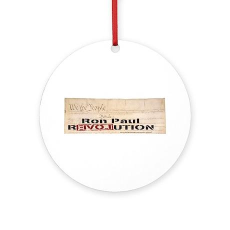 Ron Paul Preamble Pendant/Ornament (Round)