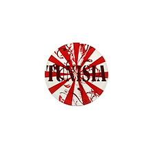 Tunisia red vintage Mini Button (10 pack)