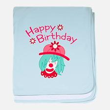 Birthday Clown baby blanket