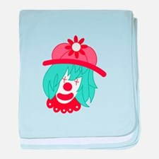 Clown Head baby blanket