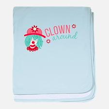 Clown Around baby blanket