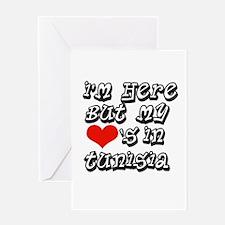 my hearts in Tunisia Greeting Card